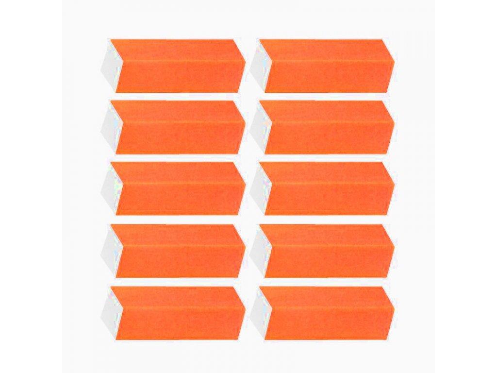 Brusný blok oranžový 10ks