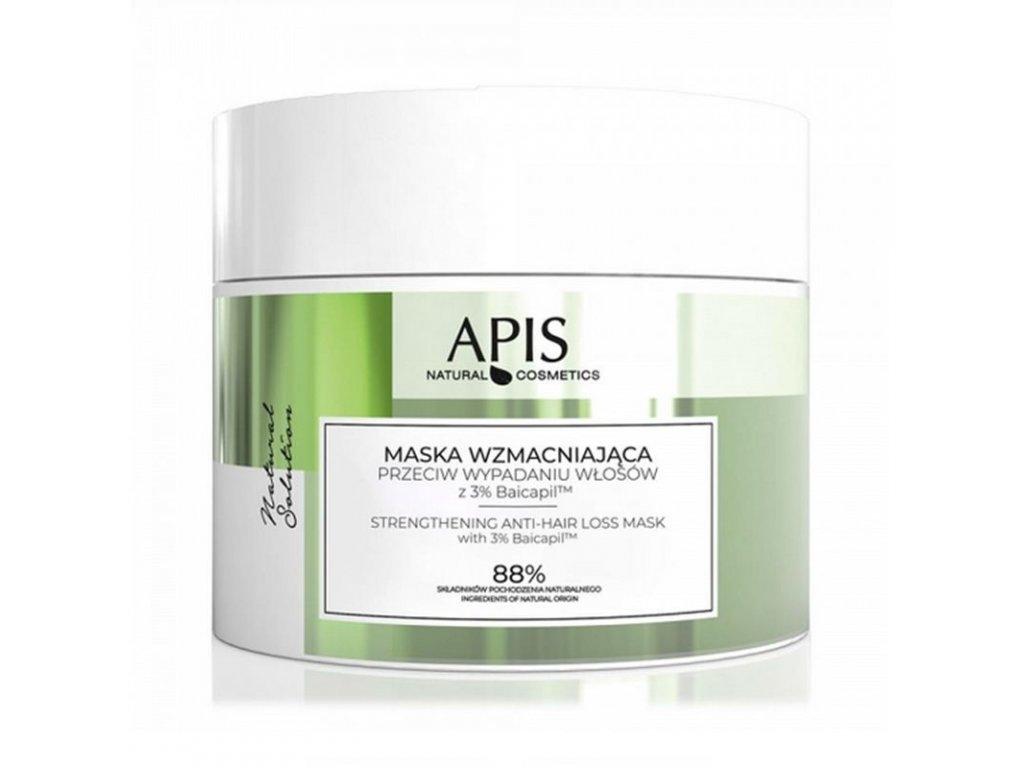 APIS NATURAL posilující maska na vlasy proti ztrátě vlasů s 3% BAICAPILEM, 200 ML