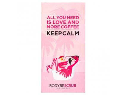 BODYBE Scrub – Rychleschnoucí růžová osuška towee – Flamingo(70x140cm)