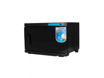 Ohřívač ručníků s UV-C sterilizátorem 16 l - černý