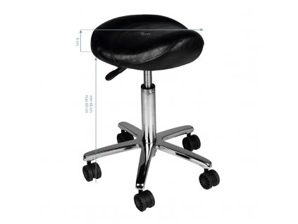 Kosmetická Židle černá AM 320
