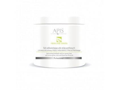 APIS Fresh Lime sůl na chodidla s citrónovou trávou 650g