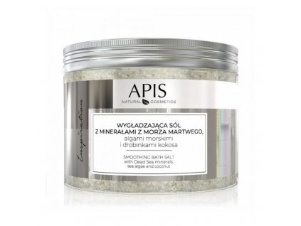APIS INSPIRACE Hladká koupelová sůl s mořskými minerály, řasami a kokosem 650g