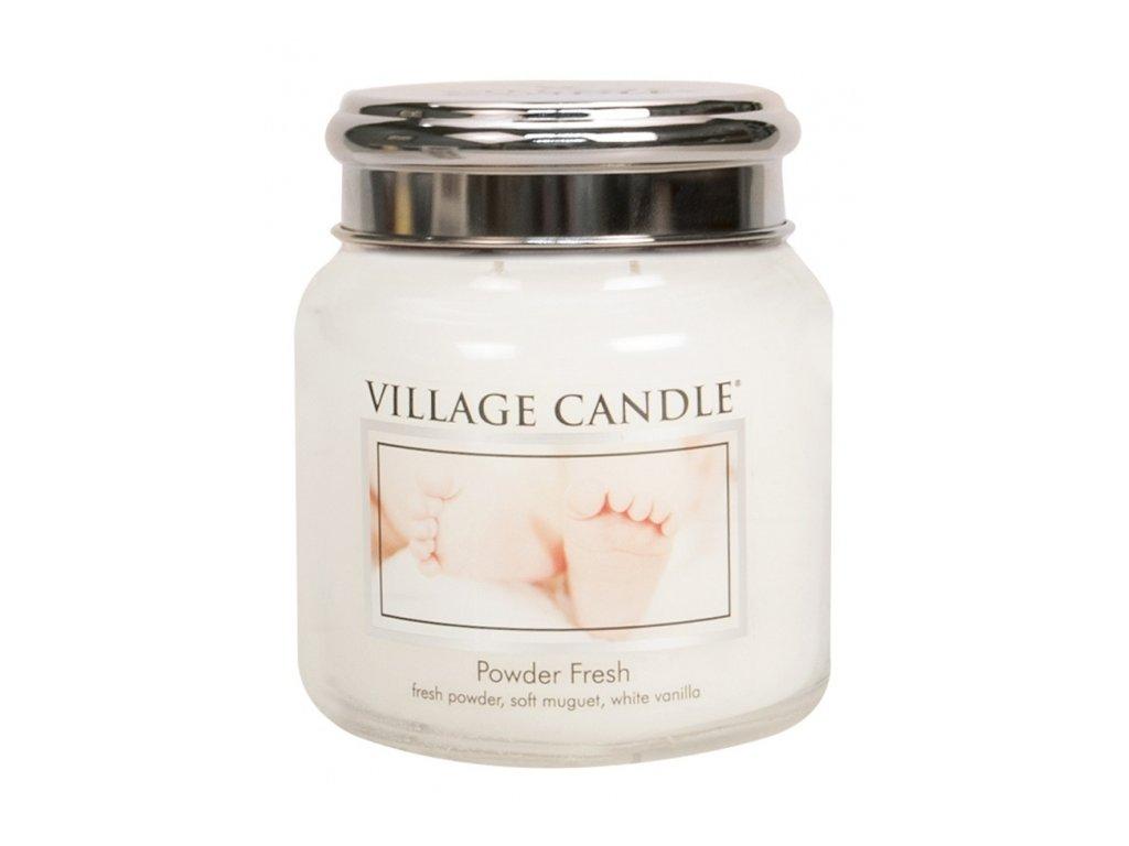 45649 11828 village candle vonna svicka ve skle pudrova svezest powder fresh 16oz
