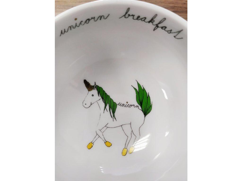 ELLASTRATION miska malá Unicorn Breakfast
