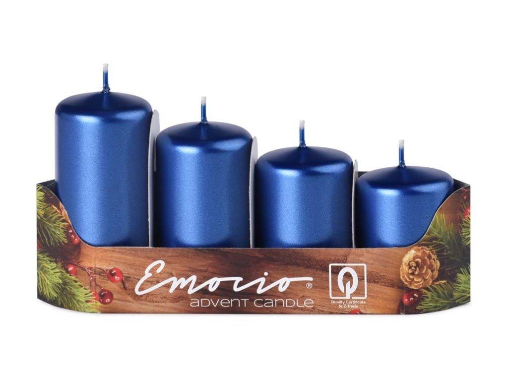 EMOCIO adventní svíčky stupně Metal Modrá
