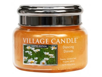 47148 12669 village candle vonna svicka ve skle tancici sedmikrasky dancing daisies 11oz