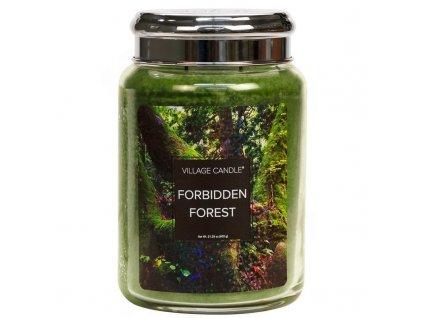 velka vonna svicka ve skle village candle forbidden forest zapovezeny les 800x800