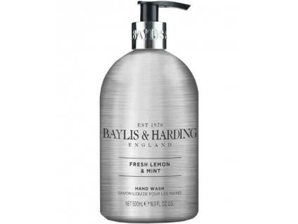 BAYLIS & HARDING tekuté mýdlo Fresh Lemon & Mint, 500ml