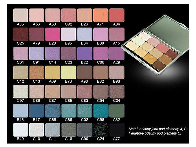 náhradní náplň pro palety OČNÍ STÍN (Odstín A33)