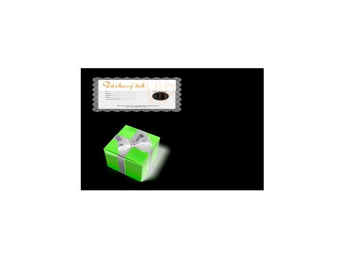 Dárkový šek v hodnotě 500Kč/1000Kč/1500Kč/2000kč/3000Kč (Odstín 3000 Kč)