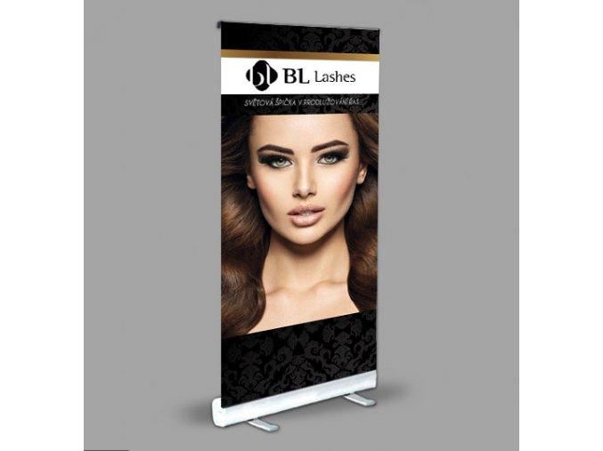 Banner BLINK LASHES do Vašeho salonu 80 x 200 cm (Odstín verze 03)