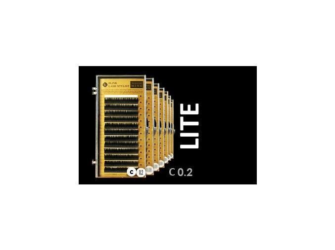 LITE řasy zakřivení C 0,20 extra lehké (Délka 10 mm)