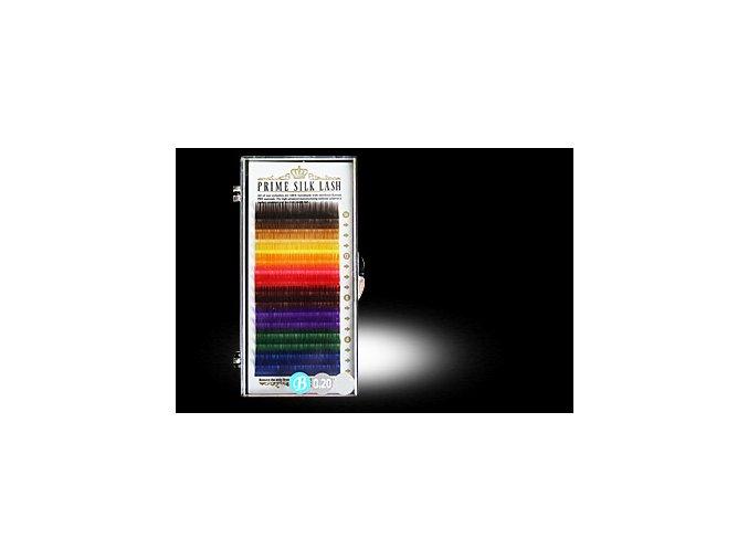 20% SLEVA Barevné hedvábné řasy MIX barev B 0.2 / 16 řad (Odstín 13 mm)