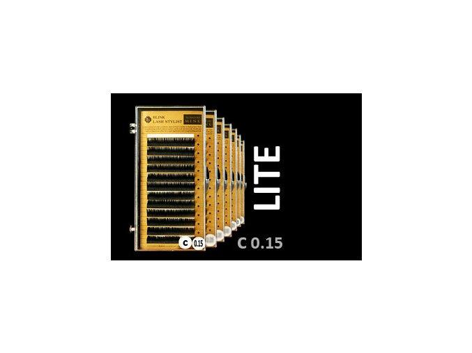 LITE řasy zakřivení C 0,15 extra lehké (Délka 14 mm)
