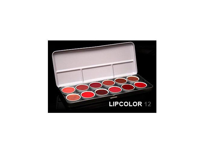 Paleta LIPCOLOR 12 rtěnek