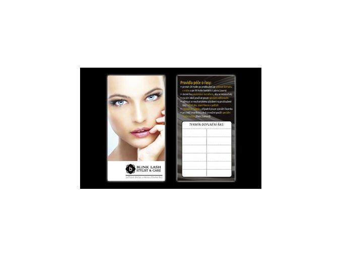 Informační kartička s objednací tabulkou (Odstín 1 Kč / ks)