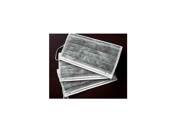RESPIRAČNÍ ROUŠKA S UHLÍKOVÝM FILTREM balení 10 kusů (Odstín balení 1 kus)