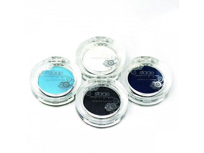 Oční stíny solo kulaté (Odstín 13 - khaki zelená perleť)