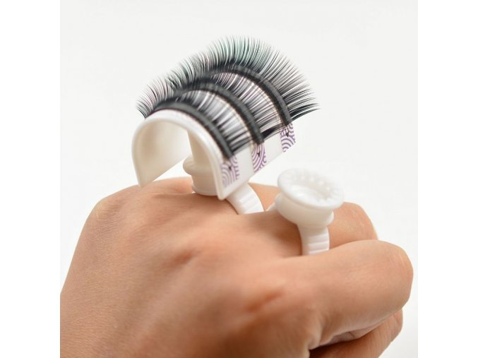 glue ring adhesive eyelash pallet holder set makeup kit tool make