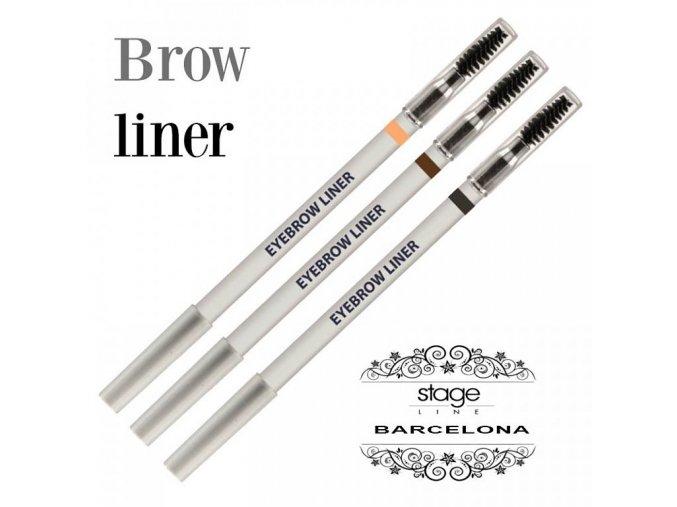 Eyebrow liner - black (Odstín hnědá)