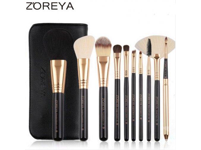 font b zoreya b font brand 10pcs makeup font b brushes b font rose gold