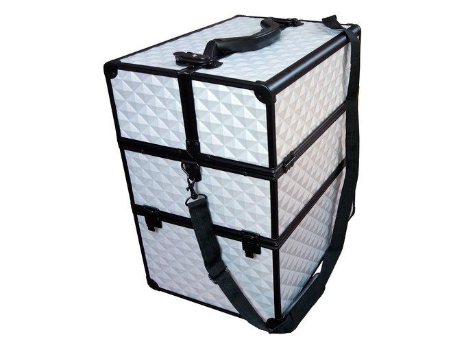 Kosmetický kufr stříbrný