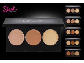 Sleek MakeUp Corrector and  Concealer pudr + 2 korekce (Odstín 05)