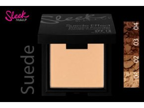 Sleek MakeUp SUEDE EFFECT PRESS POWDER Kompaktní pudr 2v1 (Odstín 03)