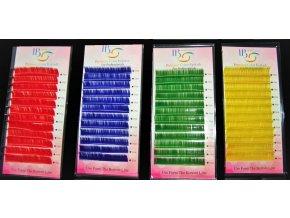 Barevné řasy C 0,15 - světle modré (Délka Světle modré C 0,15 - 12 mm)