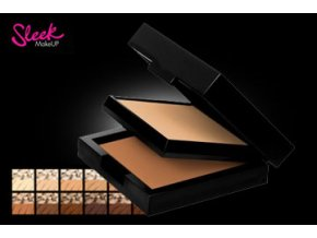 Sleek MakeUp BASE DUO KIT make-up + pudr (Odstín SAND)