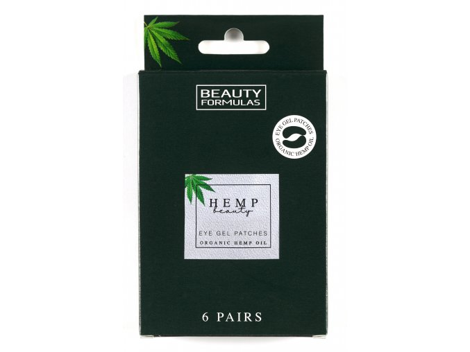 88648 Beauty Formulas Hemp Beauty, Eye Gel Patches, Organic Hemp Oil (6 pairs)