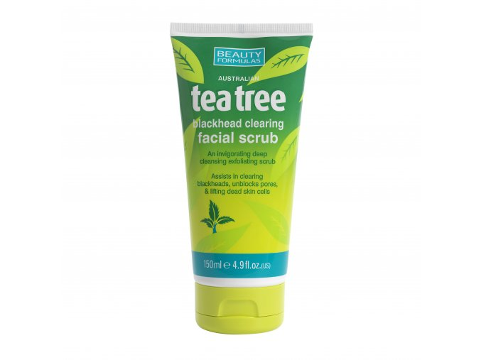 88430.Beauty Formulas Australian Tea Tree Blackhead Clearing Facial Scrub 150ml