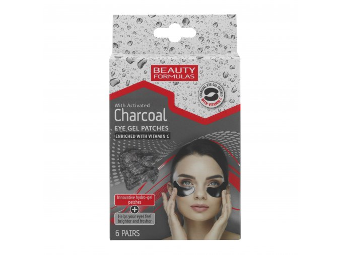 88613.Beauty Formulas With Activated Charcoal Eye Gel Patches 6's