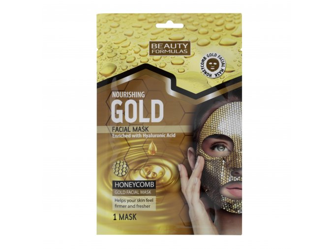 88618.Beauty Formulas Nourishing Gold Facial Mask Enriched With Hyaluronic Acid