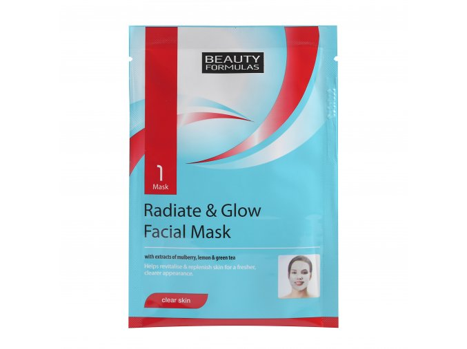 88292.Beauty Formulas Radiate Glow Brightening Facial Mask 1 Mask