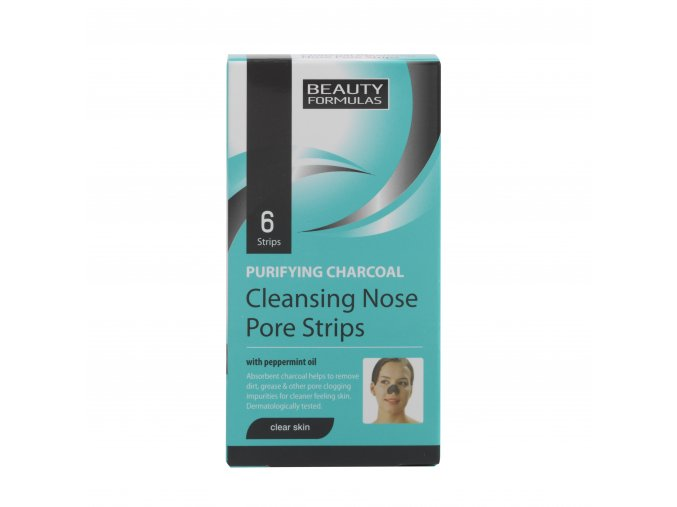 88265.Beauty Formulas Purifying Charcoal Deep Cleansing Nose Pore Strips 6 Strips.