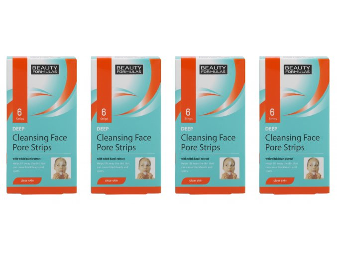 Beauty Formulas Hloubkově čistící pásky na obličej s vilínem (4x6 ks)