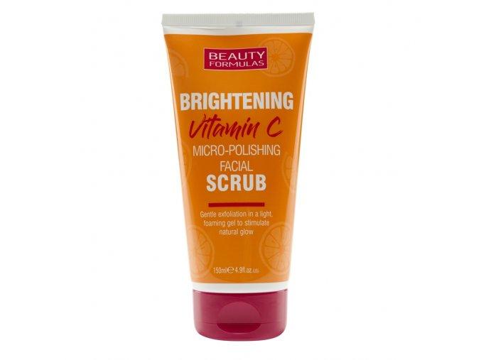 88671 Beauty Formulas Brightening Vitamin C Micro Polishing Facial Scrub