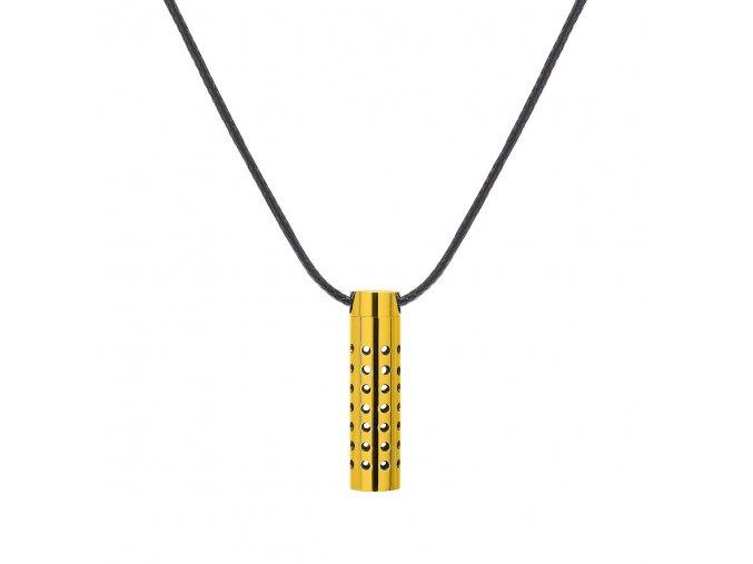 Men Cylinder necklace Gold