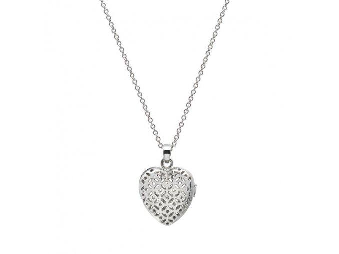 FLO Parfémový náhrdelník ve tvaru srdce (Stříbrný)