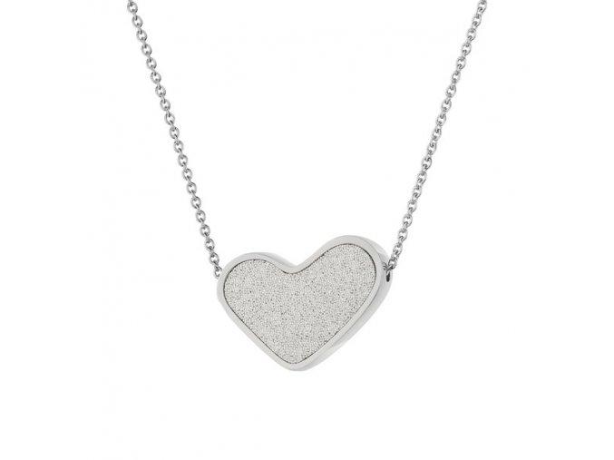 SCENTO Parfémový náhrdelník ve tvaru srdce (Stříbrný)
