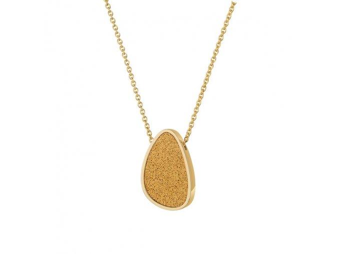 SCENTO Parfémový náhrdelník ve tvaru kapky (Pozlacený 18 ct.)