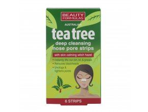 88450.Beauty Formulas Australian Tea Tree Deep Cleansing Nose Pore Strips 6 strips