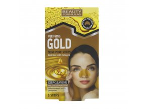 88631.Beauty Formulas Purifying Gold Nose Pore Strips