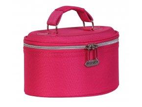 INTERVION Kosmetická taška s popruhem (růžová)