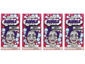 BEAUTY FORMULAS Bublinková pleťová maska (Mléčný protein) 4x7 g