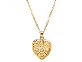 FLO Parfémový náhrdelník ve tvaru srdce (Pozlacený 14K)