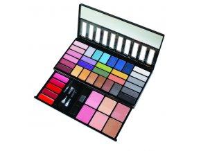 PARISAX Kosmetická paletka s očními stíny, rtěnkami a tvářenkami (41 barev)