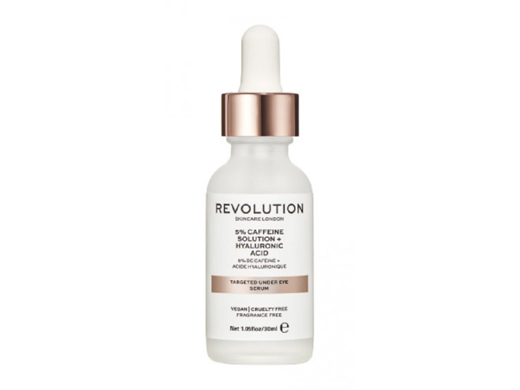 Revolution Skincare, Targeted Under Eye Serum - 5% Caffeine Solution + Hyaluronic Acid Serum, očné sérum